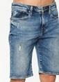 Mavi Jean Şort Lacivert